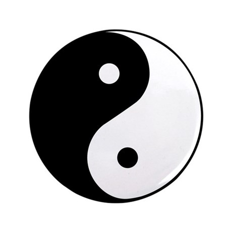 "Yin Yang Symbol 3.5"" Button (100 pack)"