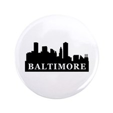 "Baltimore Skyline 3.5"" Button (100 pack)"