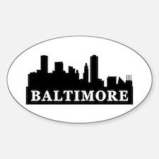 Baltimore Skyline Oval Decal