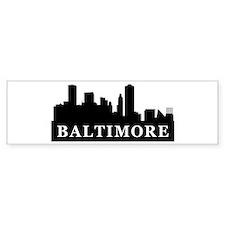 Baltimore Skyline Bumper Bumper Sticker