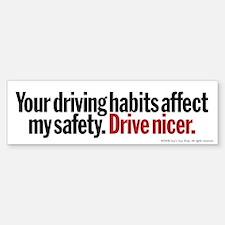 Driving Habits Bumper Bumper Bumper Sticker