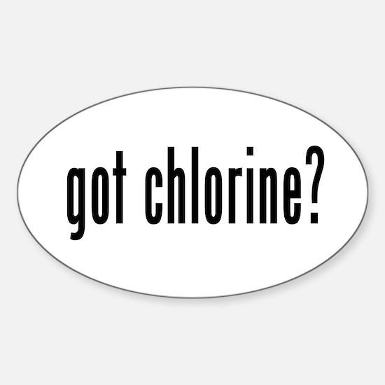 got chlorine? Oval Decal
