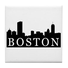 Boston Skyline Tile Coaster