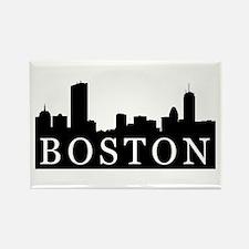 Boston Skyline Rectangle Magnet (10 pack)