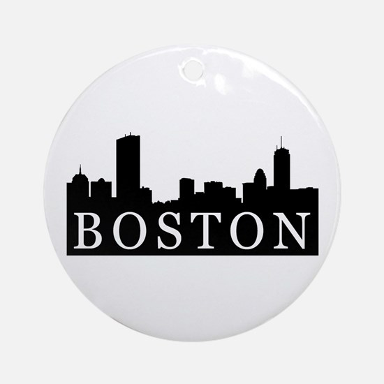 Boston Skyline Ornament (Round)