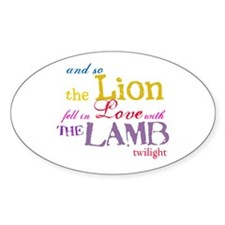 Twilight Lion and Lamb Oval Decal