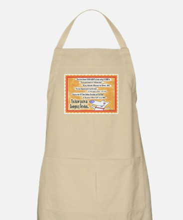 You Know You're an ER VET... BBQ Apron