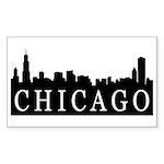 Chicago Skyline Rectangle Sticker 50 pk)