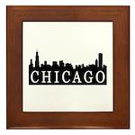 Chicago Skyline Framed Tile