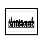 Chicago Skyline Framed Panel Print