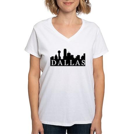 Dallas Skyline Women's V-Neck T-Shirt