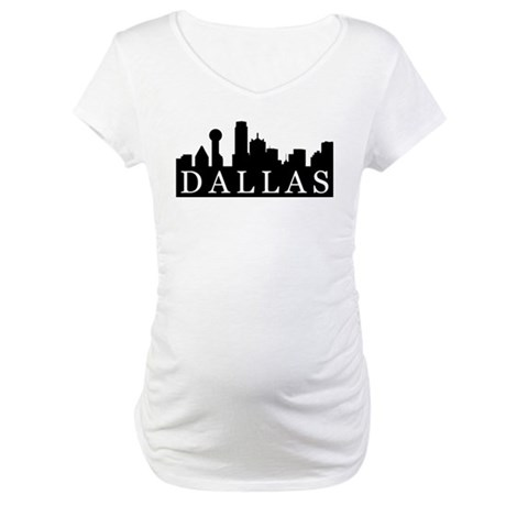 Dallas Skyline Maternity T-Shirt