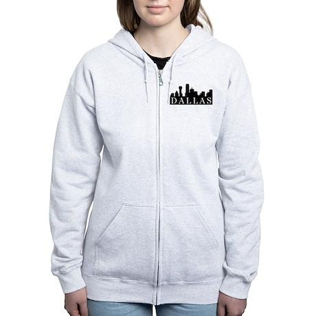 Dallas Skyline Women's Zip Hoodie