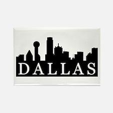 Dallas Skyline Rectangle Magnet (10 pack)