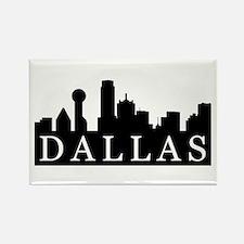 Dallas Skyline Rectangle Magnet