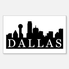 Dallas Skyline Rectangle Decal