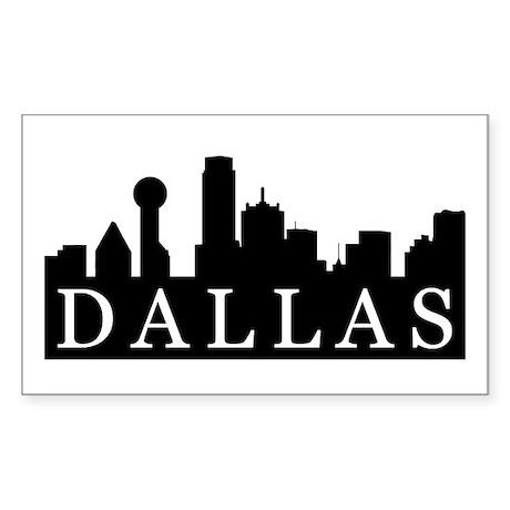 Dallas Skyline Rectangle Sticker