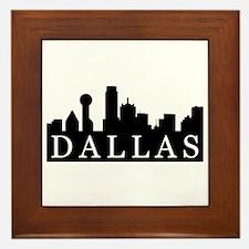 Dallas Skyline Framed Tile