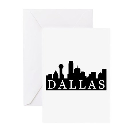 Dallas Skyline Greeting Cards (Pk of 20)