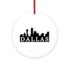 Dallas Skyline Ornament (Round)
