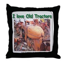 I love old AC tractors Throw Pillow