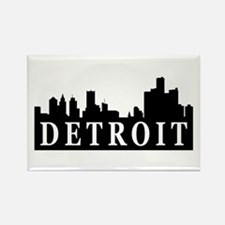 Detroit Skyline Rectangle Magnet