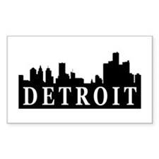 Detroit Skyline Rectangle Decal