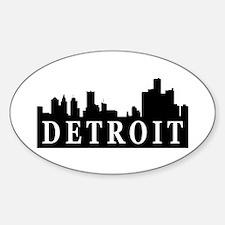 Detroit Skyline Oval Decal