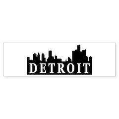 Detroit Skyline Bumper Bumper Sticker