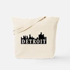 Detroit Skyline Tote Bag