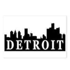 Detroit Skyline Postcards (Package of 8)