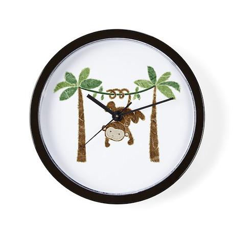 silly monkey Wall Clock