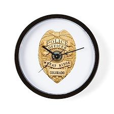 Wheat Ridge Police Wall Clock