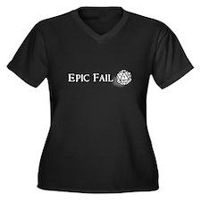Epic Fail d20 Women's Plus Size V-Neck Dark T-Shir