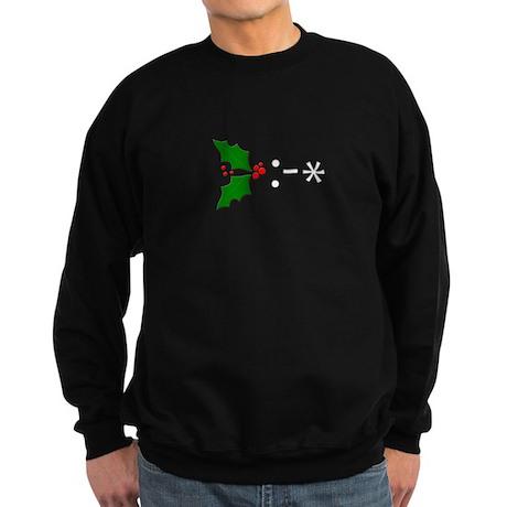 Kiss Emoticon - Mistletoe Sweatshirt (dark)
