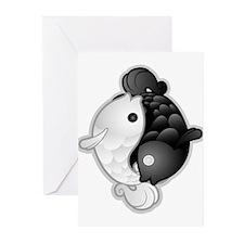 Yin Yang Koi Greeting Cards (Pk of 10)