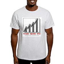 Casualties, Deficits, Oil Ash Grey T-Shirt