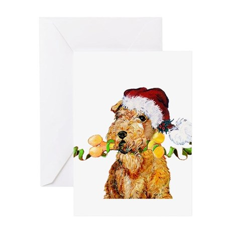 Irish Terrier Christmas Greeting Card