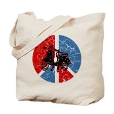 Peace Out Scooter Tote Bag
