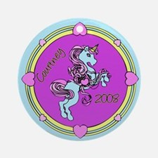 Courtney Unicorn Ornament (Round)