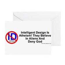 Intelligent Design is atheism Greeting Cards (Pack