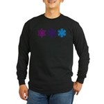 Snowflakes Long Sleeve Dark T-Shirt