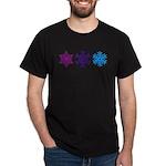 Snowflakes Dark T-Shirt