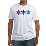Snowflakes Fitted T-Shirt