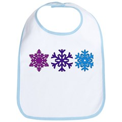 Snowflakes Bib