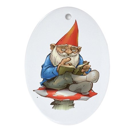 Gnome Oval Ornament