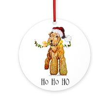 Irish Terrier HO HO HO Ornament (Round)