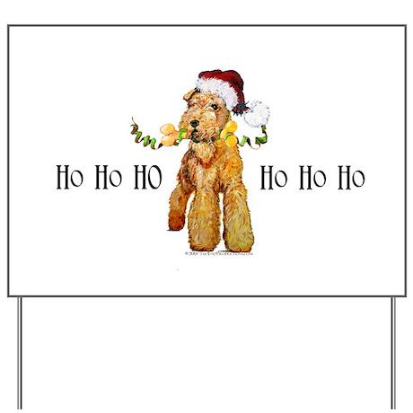 Irish Terrier HO HO HO Yard Sign