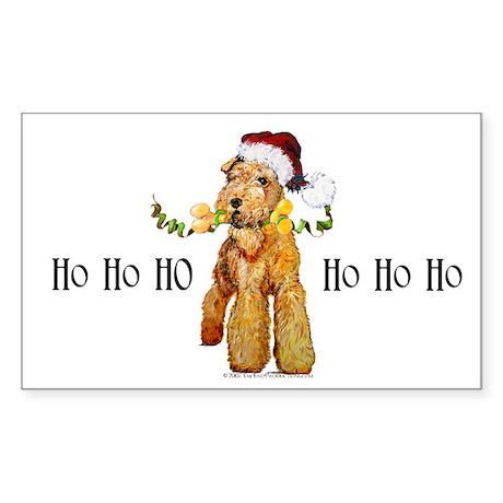 Irish Terrier HO HO HO Sticker (Rectangle)