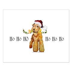 Irish Terrier HO HO HO Posters